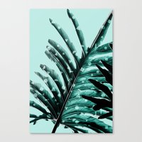 Leaves 2 Geometry Canvas Print