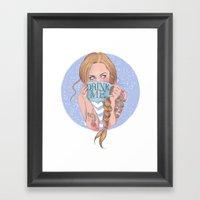 Follow The White Rabbit … Framed Art Print