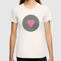 Flat heart Womens Fitted Tee Natural SMALL