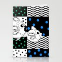 Fish and Patterns Op Art Stationery Cards