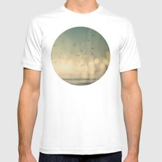 Where The Sky Meets The Sea  Mens Fitted Tee White SMALL