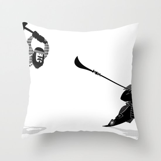 PDX vs TYO Throw Pillow