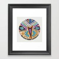 Tribal Folk Icon Framed Art Print