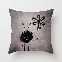 Evil Flower Bug Throw Pillow