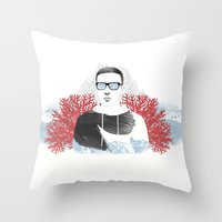 The depth of him Throw Pillow