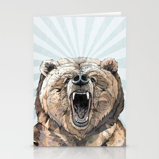 Grizzly Stationery Card