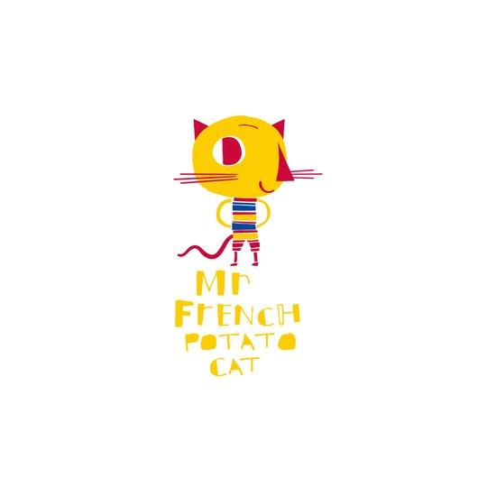 Mr French Potato Cat Art Print
