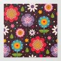 Floral seamless pattern. Canvas Print
