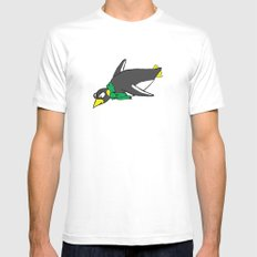 penguin White Mens Fitted Tee SMALL