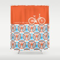 I Want To Ride My Bicycl… Shower Curtain
