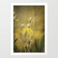 Wild Yellow Art Print