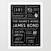 Bond In Black Art Print