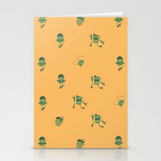 """Movie Patterns - """"Tuesday War"""" Stationery Card"""