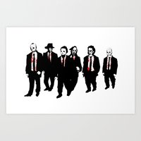 Reservoir Horror Icons Art Print