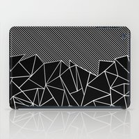 Ab Lines 45 Black iPad Case