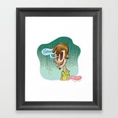 Zombie Self-Portrait: Forever Framed Art Print