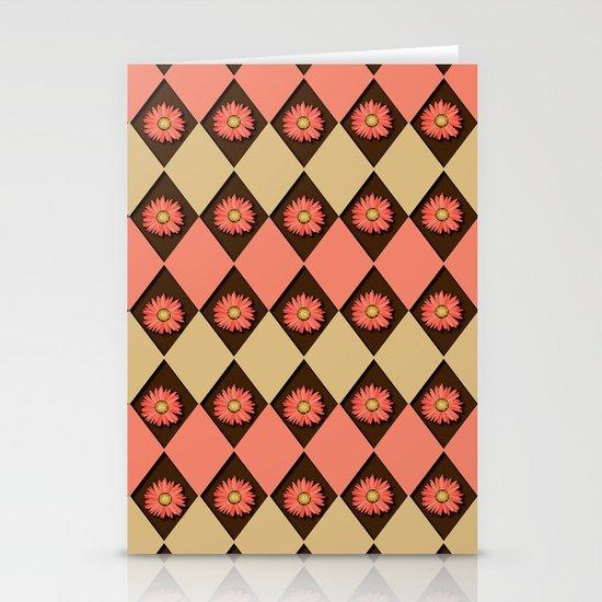 A Peachy Argyle Stationery Card