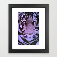 Be A Tiger (Purple) Framed Art Print