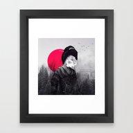 Framed Art Print featuring The Geisha by Peg Essert