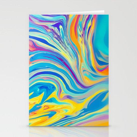 rainbow swirl Stationery Card