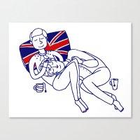Tea Time with Sherlock and John Mug Canvas Print