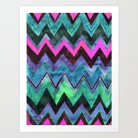 PATTERN {chevron 011} Art Print