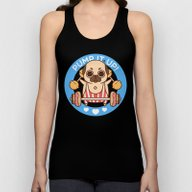 Pump It Up, Puglie! Unisex Tank Top