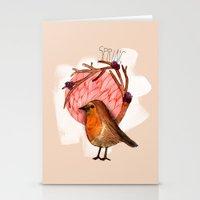 Spring birdy / Nr. 5 Stationery Cards