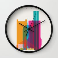 Shapes of Boston. Accurate to scale Wall Clock