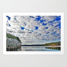 Clouds and Water Reflections Art Print