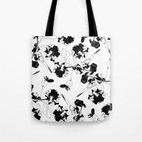 Hydranga Pattern  - Blac… Tote Bag