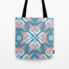 Pastel Fox Pattern Tote Bag