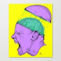 Brain Stain Canvas Print