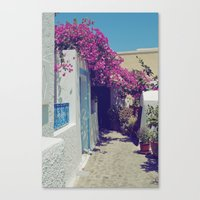 Santorini Walkway VI Canvas Print