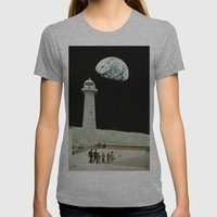 moon Womens Fitted Tee Athletic Grey SMALL
