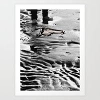 Heart In The Sand Art Print