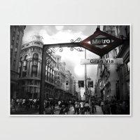 Gran Via-Madrid Canvas Print