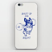 Frenchie Squat iPhone & iPod Skin