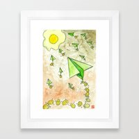 The Life Circulation of the Egg Framed Art Print