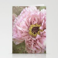 summertime peony Stationery Cards