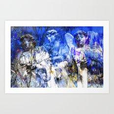 Blue Symphony of Angels Art Print