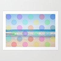 Polka Dot Beach  Art Print