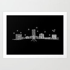 Tallahassee, Florida City Skyline Art Print