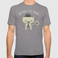 This Cat Mens Fitted Tee Tri-Grey SMALL