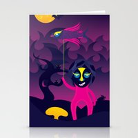 Night of the forest spirit Stationery Cards