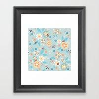 Ladybugs In The Garden Framed Art Print