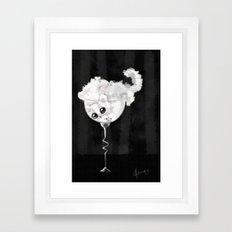 Glass Full on Kitty Framed Art Print