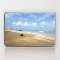 Loquillo Beach Photography - Turquoise Ocean, Blue Sky, Warm Golden Sand Laptop & iPad Skin