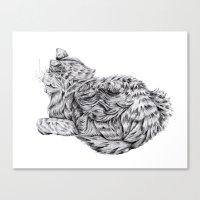 Pencil Cat Canvas Print