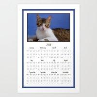 Cat Calendar 2013 Art Print